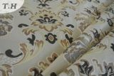 Ultimi disegni del jacquard del fiore per il tessuto del sofà e della mobilia