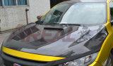 Capa da capota da fibra do carbono para Honda Civic X 10o 2016 estilos de Arv