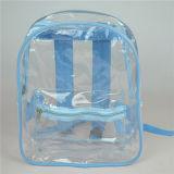 大きい透過PVC子供のバックパックの緑の透過袋