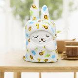 Manta del bebé de la muñeca del conejo