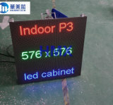 La pantalla de visualización de alquiler de LED de la alta calidad de interior P3 576*576m m a presión el panel de aluminio del módulo de la visualización de LED de la cabina de la fundición (p5 p6 p10)