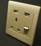 UK Socket BS British 13A USB Socket Wall Socket