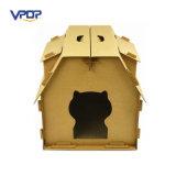 Venda por atacado ondulada confortável da mobília do gato de casa do gato