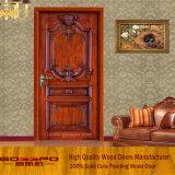 Singolo portello di legno solido interno di stile cinese (GSP2-002)