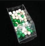 Rectángulo de acrílico del alimento de la visualización seca de lujo por encargo del caramelo con la tapa