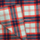 Yarn-Dyed шинель ткани шерстей проверки