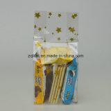 Customzied a estampé le sac latéral basé carré de cadeau de sacs de sucrerie de cellophane de pain de gousset de BOPP
