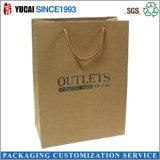 Gold Color Paper Shopping Bag Craft Paper with Handle