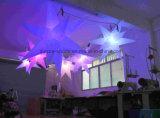 Luz inflável da estrela do diodo emissor de luz da venda 2016 quente para estrelas infláveis de suspensão ao ar livre do diodo emissor de luz