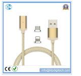 2in1 Nylon Braid cable cargador magnético para Android y iPhone