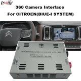 Interfaz de la cámara de visión trasera 360 para el Citroen-Peugeot-Ds