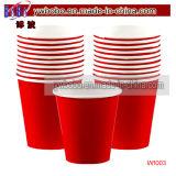 Décoration rouge de noce de cuvettes de papier d'approvisionnement d'usager (W1003)