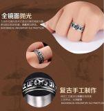Ring van Fingle van de Omwenteling van de Mensen van Custume van de Juwelen van het roestvrij staal de Unieke Retro