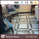 La Grecia ha lucidato le mattonelle di marmo bianche civiche di Volakas di rivestimento con le vene grige