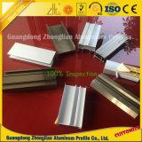 O alumínio superior da eletroforese da classe expulsou perfil para o frame de porta