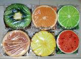¡Venta caliente! Rectángulo de almacenaje plegable redondo de la pelusa del diseño del limón de la fruta
