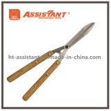 ステンレス鋼の灰の木製のハンドルが付いている波状の刃の両掛けのせん断