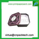 Boîte-cadeau cosmétique de estampage chaude de carton de fleur de boucle de bijou