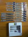 cutelaria do aço 24PCS inoxidável ajustada/Flatware ajustado com pacote da caixa de cor