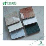 Panneaux de marbre de nid d'abeilles avec le modèle de Hongzan et la surface Polished