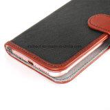 Cassa di cuoio del telefono con la tabulazione del magnete per il iPhone/Samsung