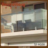 Broche en verre carrée d'acier inoxydable avec la bride en verre d'embase pour clôturer (SJ-F323)