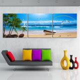最もよい価格の昇進の高品質の壁の芸術の青空浜の海景のキャンバスプリント