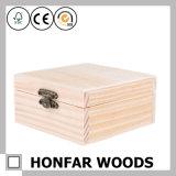 DIY 미완성 처리되지 않는 나무로 되는 보석함 나무 상자 선물 상자