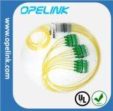 Divisor del PLC de la telecomunicación 1X8 Blockless de Gpon para FTTX/CATV/Pon