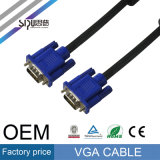 Cable del VGA del OEM de Sipu para el cable video audio del ordenador del monitor