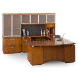 Tabela popular quente moderna do escritório do CEO, plataforma de madeira do escritório da melamina da forma de U (SZ-OD499)