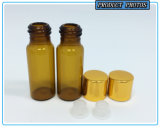 des Bernstein-5ml Glas-Phiolen wesentliches Öl-Glasder flaschen-5ml
