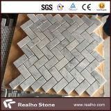 Дешевая плитка мозаики 305X305 шевронная Carrara белая мраморный для стены
