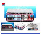 Balance électronique d'usine de Dahe avec l'étalage de LED/LCD (DH-586)