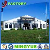 販売のための屋外の大きく白い玄関ひさしの望楼党イベントの結婚式のテント10年の工場ゆとりの