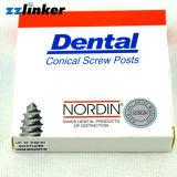 Or de Nordin 120PCS/Box plaqué rond le poste dentaire de vis de cadre