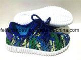 El más nuevo ocio de los zapatos de lona de la inyección de los niños se divierte los zapatos (FFDL111901)
