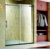 Aluminiumprofil-schiebendes Badezimmer-Dusche-Gehäuse mit Edelstahl-Griff (K04)