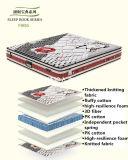 Colchão natural da mola de compressão do látex com mobília de confeção de malhas engrossada Fibrilia da tampa de tela - Fb853