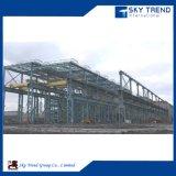 Estrutura de aço planta industrial