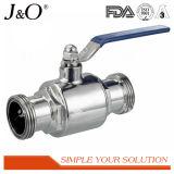 Válvula de esfera sanitária da solda de extremidade do aço inoxidável