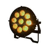 9X12W RGBWA+UV 6in1はLED PAR64 IP65の屋外ライトを防水する