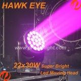 Beweglicher Kopf der Falke-Auge 22X30W RGBW 4in1 B-Auge Summen-Wäsche-LED