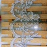 Lacet enroulant de guipure de modèle d'usine d'action de la vente en gros 10cm de largeur de broderie de polyester de garniture de nylon neuf de fantaisie pour des vêtements et des textiles et des rideaux à la maison