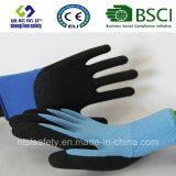Doublure en nylon de 13 mesures, enduit de nitriles, gants de travail de sûreté de fini de Sandy (SL-NS105)