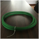 Ceinture rugueuse PU en O-ring vert