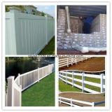 A cerca bonita permanente do PVC do estilo arquitectónico apainela a cerca do vinil