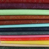 新しい0.8mm PU PVCによって浮彫りにされる模造袋の革