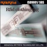 Etiqueta passiva da etiqueta RFID da cor da freqüência ultraelevada 860-960MHz para a roupa