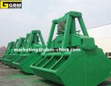 Garra hidráulica elétrica marinha usada segurando a carga de maioria